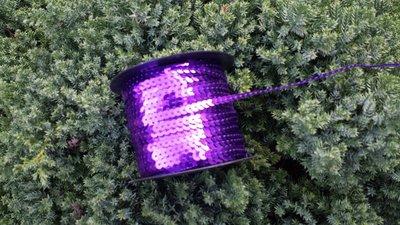 Ruban paillettes violet