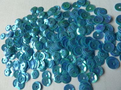 Parelmoer pailletten 5mm blauw