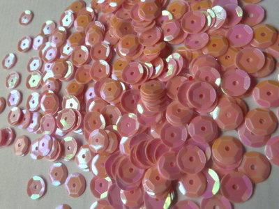 Parelmoer pailletten 8mm rose