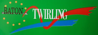 Sticker Baton Twirling groen