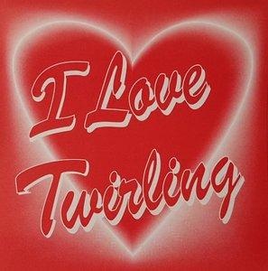 Herz-Aufkleber I love Twirling