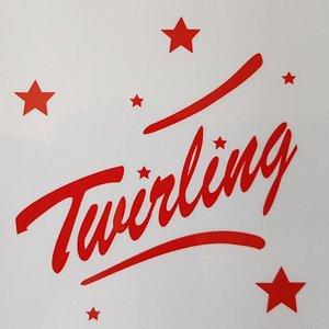 Sticker transparant Twirling