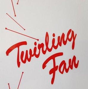 Sticker transparant Twirling fan
