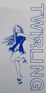 Sticker Twirling girl
