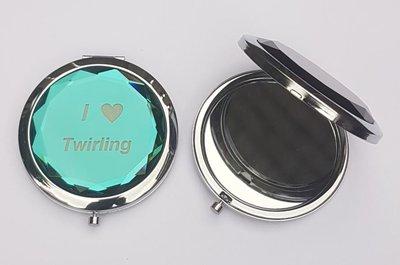 Makeup spiegel I love Twirling blauw