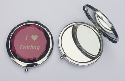 Makeup spiegel I love Twirling paars