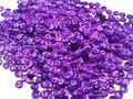 Laser sequins 5mm purple