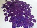Vierkante disco pailletten 7mm paars