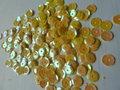 Parelmoer pailletten 5mm geel/goud