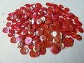 Parelmoer pailletten 8mm rood