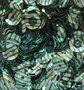 Pailletten 8mm groen op zilver
