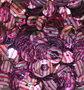 Pailletten 8mm roze op zilver